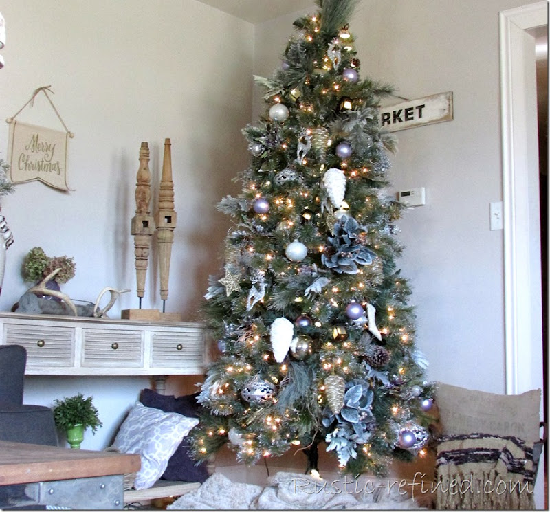 Christmas Living Room Decorating Ideas Rustic Refined