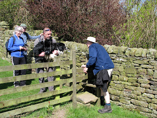 "Sam is carried over the stile - ""Over to you Barrie!!"""