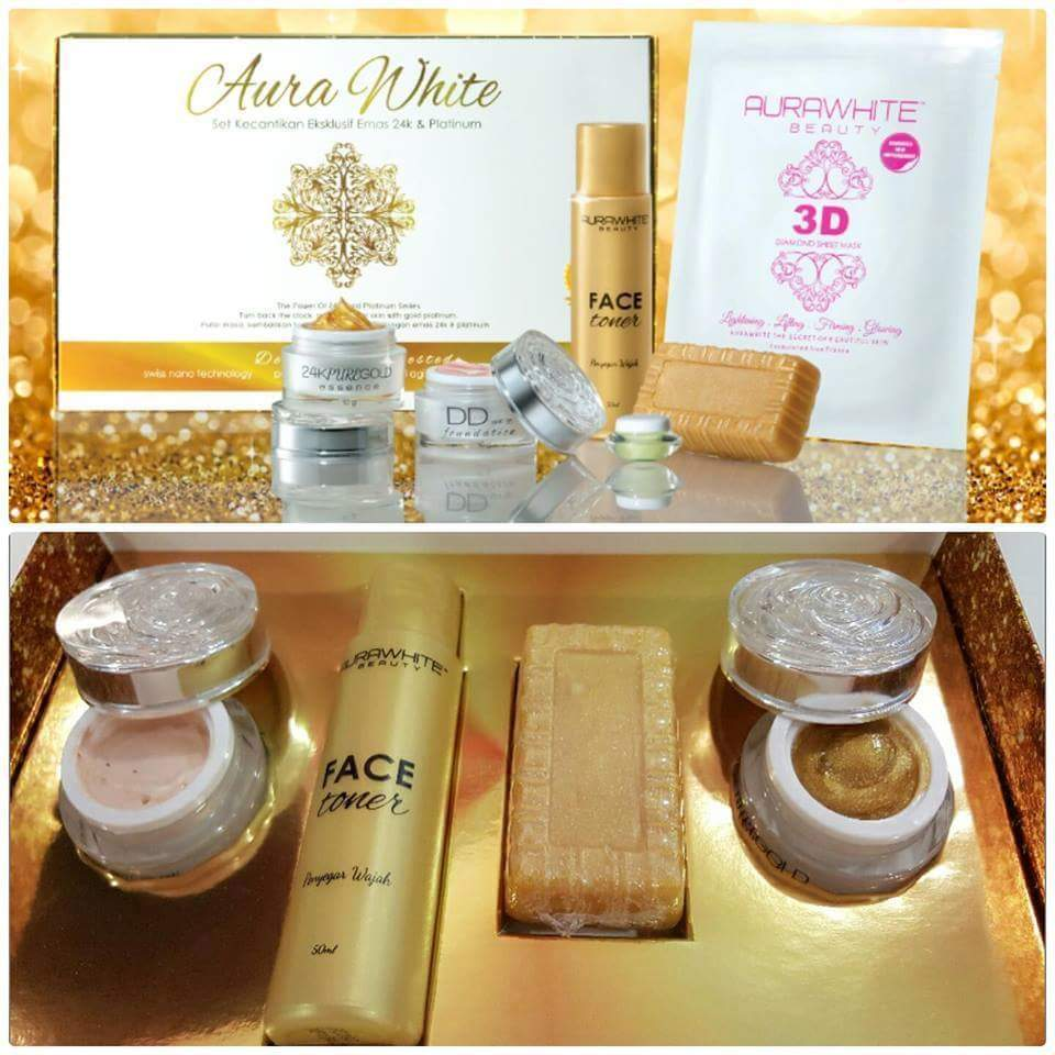 Image result for AURAWHITE 24K GOLD SKINCARE