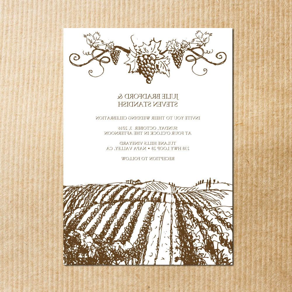 brown Rustic Vineyard Wedding
