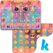 Owl Kika Emoji Keyboard Theme APK for Bluestacks
