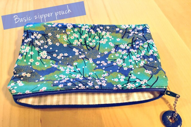 DIY Basic zipper pouch japanese fabric