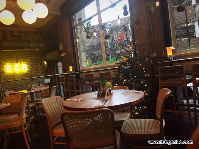 Evelyn's Café Bar Crab and Shrimp Burger