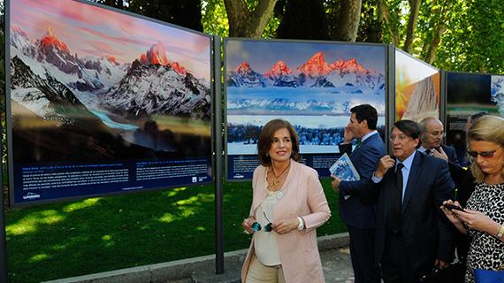 Inauguración de la exposición 'Un mundo de montañas' en el Parque del Retiro