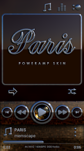 PARIS Poweramp skin - screenshot