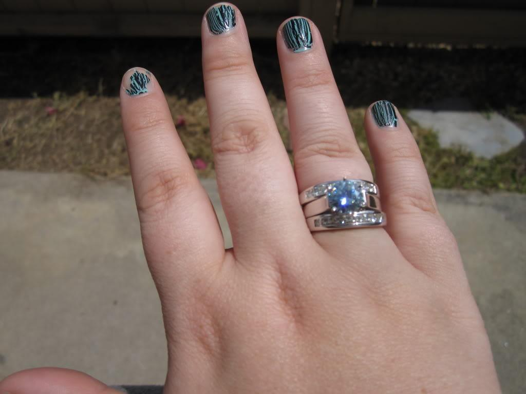 moissanite wedding nails