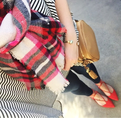 how to wear a blanket scarf, lace up flats