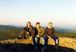 My friends Bernd, Stefan, and Olli-Pekka.  At the summit of Hawksbill Mountain, October 1996.