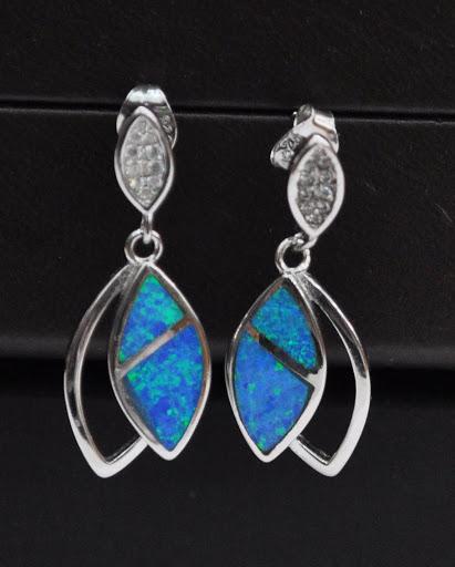 925 silber sterling blau opal anh nger ohrringe rodiniert schmuckset zirkonia ebay. Black Bedroom Furniture Sets. Home Design Ideas
