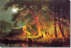 1 Albert Bierstadt (German-born American artist, 1830-1902)   Oregon Trail