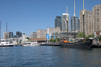 Queens Quay, Toronto, May 2010: View of the harbour