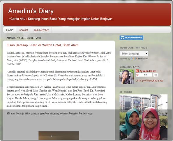 Amerlim s Diary