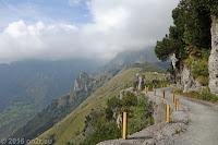 Auf der Dosso Alto-Höhenstrasse.