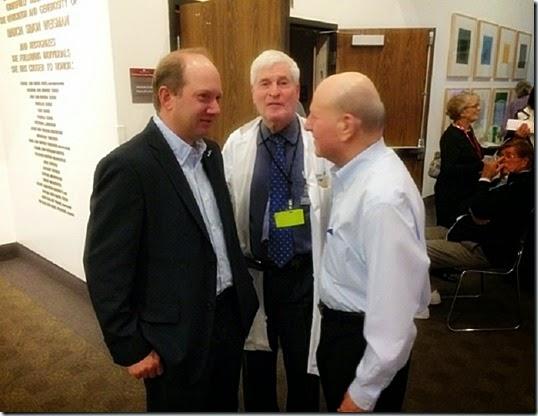 E. Randol Schoenberg (L), Dr. Charuzi (C) & Dr. Joseph Bussel (R)