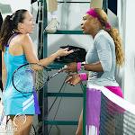 Jelena Jankovic & Serena Williams post-match discussion
