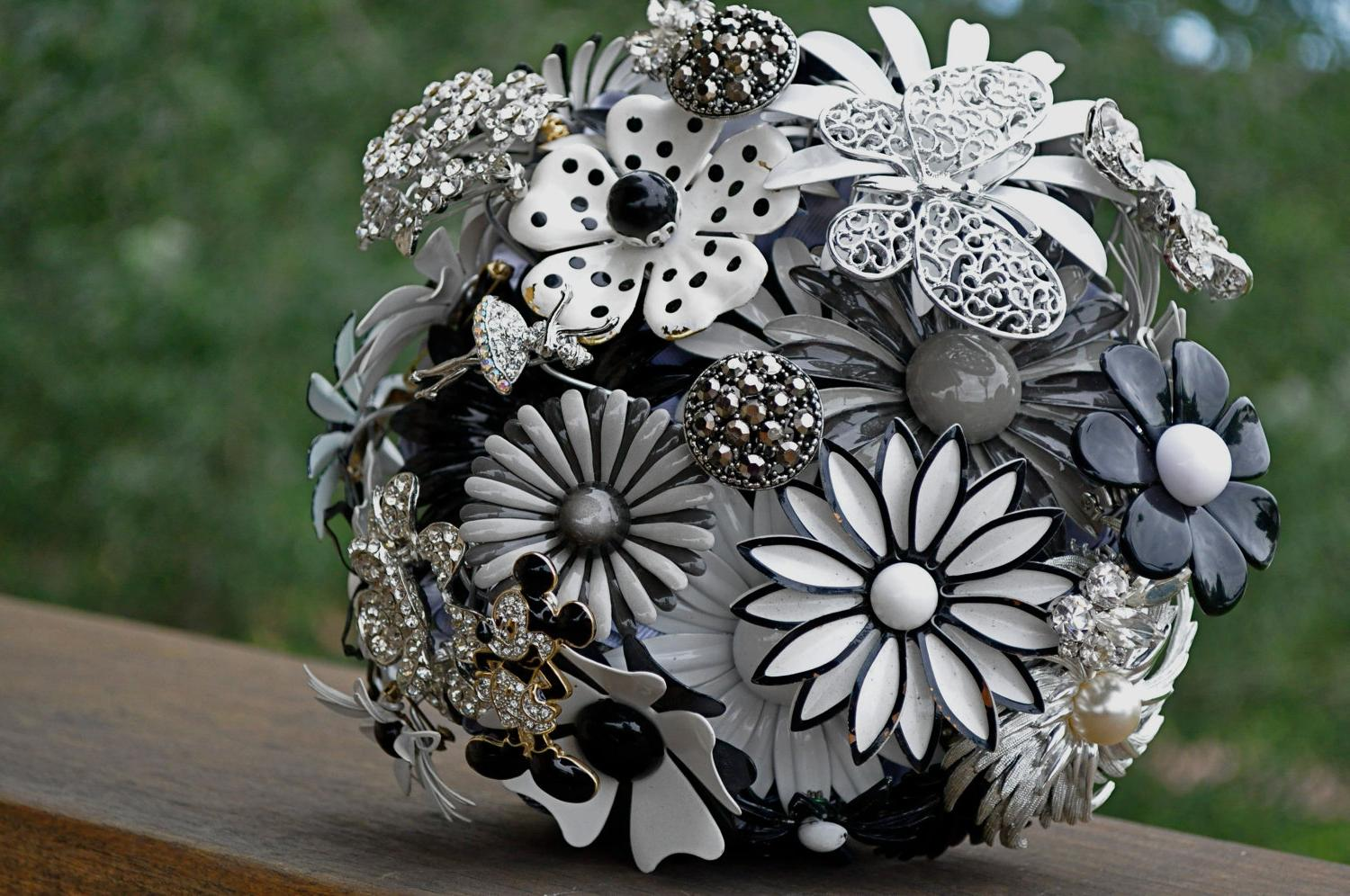 black and silver weddings