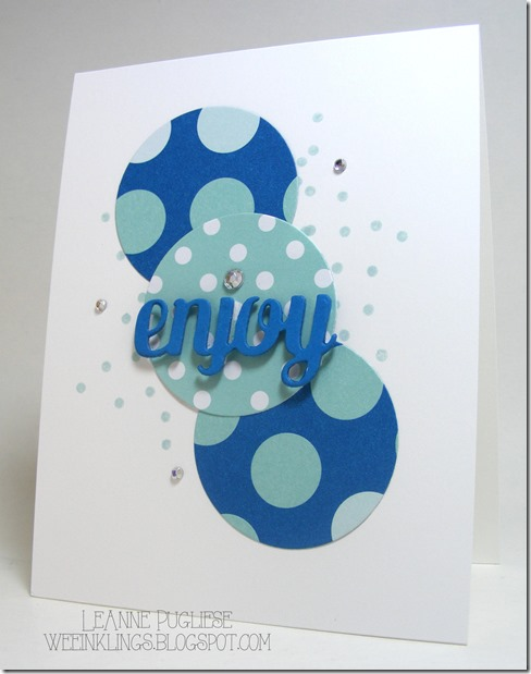 LeAnne Pugliese WeeInklings Enjoy Stampin Up Birthday Card