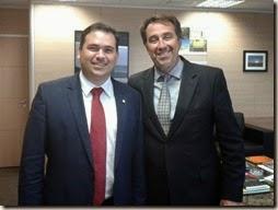 Beto Rosado com o ministro Gilberto Occhi