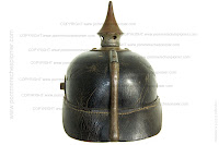 A rear view of the Pickelhaube model 1915