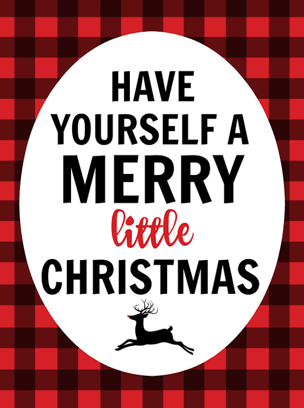 Have Yourself a Merry Little Christmas printable at   GingerSnapCrafts.com