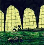<strong>Murder in the Algae Fields.</strong> <em>Digital Media, 2014. Art for Promotional Poster.</em>