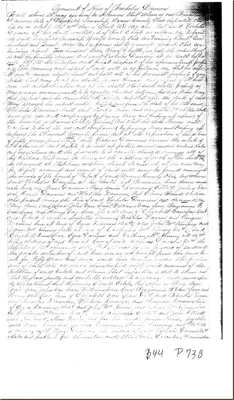 Nicholas Dawson,Deerfield Twp,Warren Co,OH, Mary Irwin,James Irwin heirs 18671
