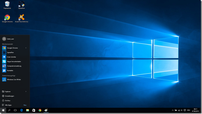 Windows 10 nach dem Upgrade von Windows 7 Pro