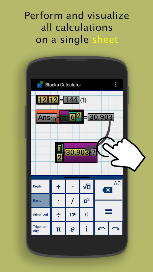 Blocks Scientific Calculator Screenshot 1