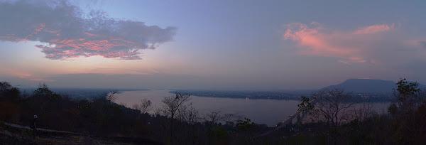 Меконг панорама паксе лаос вечер закат