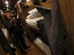Sooooo, I took over Al's bunk for the Annies tour and while enthusiastically hopping in I sorta ripped off his curtain.