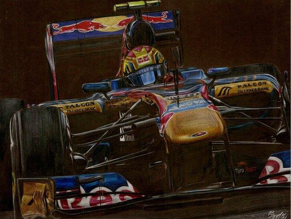 рисунок болида Toro Rosso 2011 Хайме Альгерсуари от SpecialNightStar