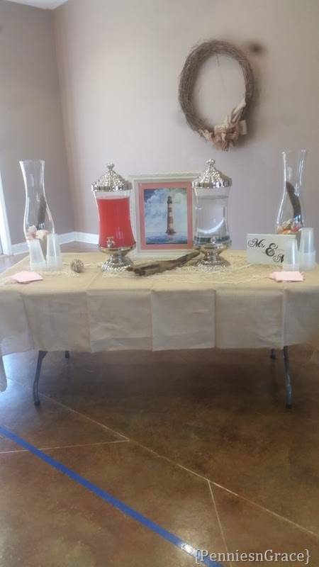 Beach themed Drink table