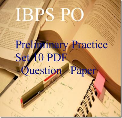 IBPS PO 2015 Preliminary practice Set 10
