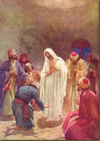 JESUS RESUCITADO CON APOSTOLES