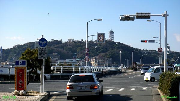 远方就是江之岛高塔