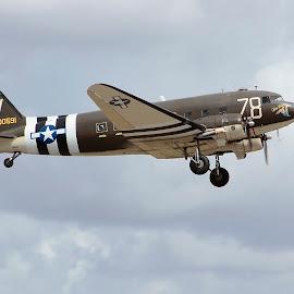Tico Belle in flight by Jim Baker - Transportation Airplanes