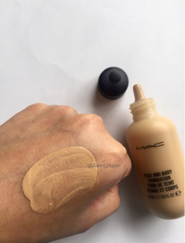 mac face body foundation in c3 review beauty and the muslimah