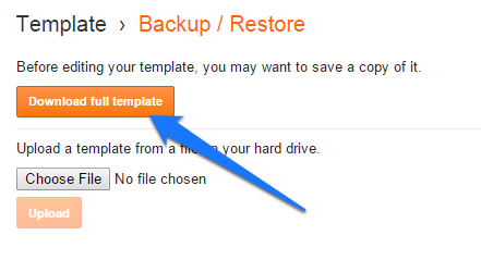 backup-blogger-template
