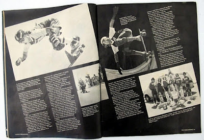 2nd page of the team article from Skateboarder magazine.