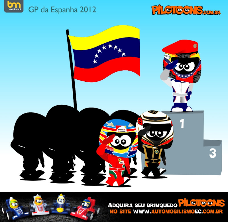 Пастор Мальдонадо на вершине подиума - pilotoons по Гран-при Испании 2012