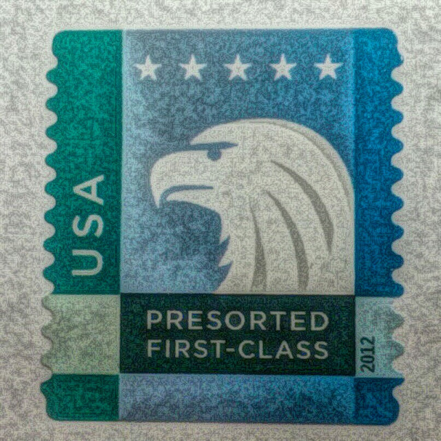 Free picture of a mail stamp.