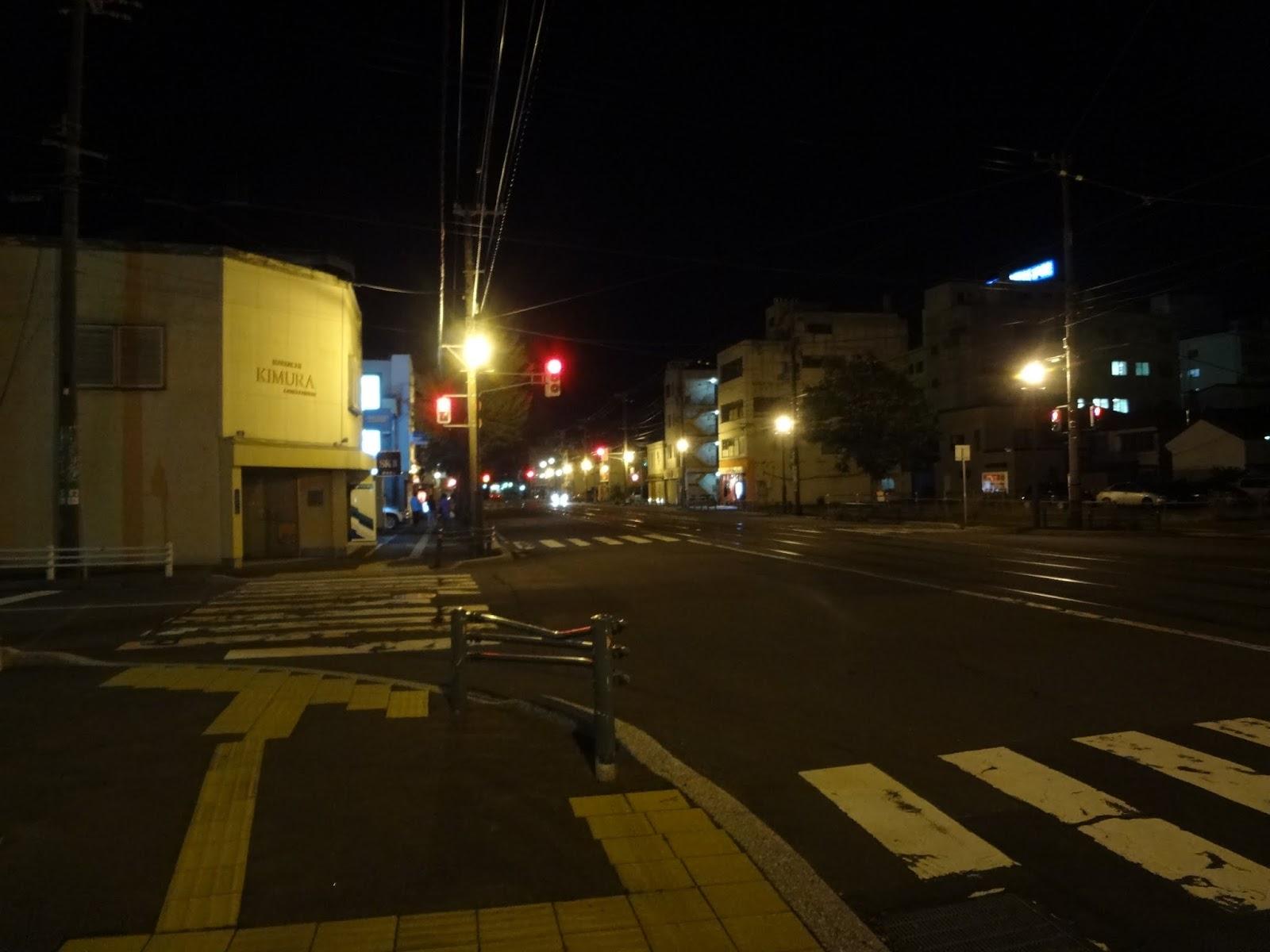 宝来町(22:30頃)