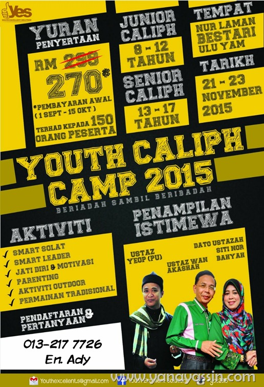 YOUTH CALIPH CAMP 2015 KINI KEMBALI !!