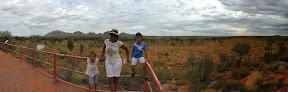 Kata Tjuta and Uluroo in the distance