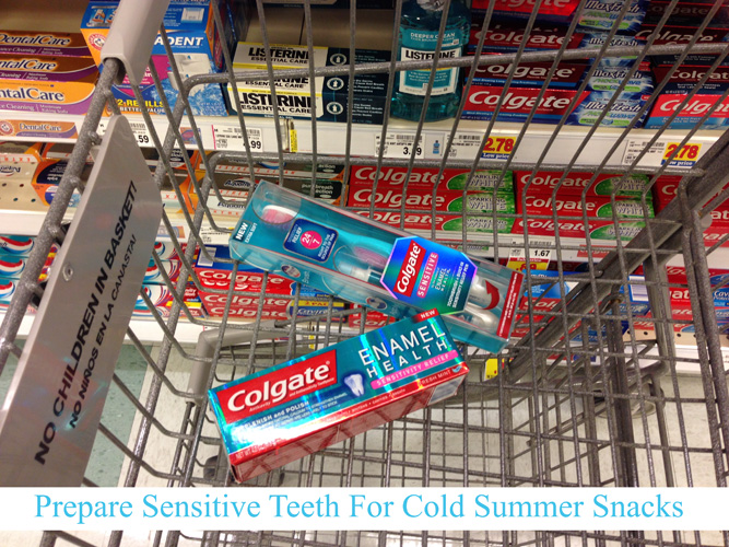Prepare your teeth for cold summer drinks. Just in time for those fun, cold drinks- Colgate Sensitive Toothbrush & Built-in Sensitivity  pen. Includes a recipe for Vanilla Lattes for a crowd.