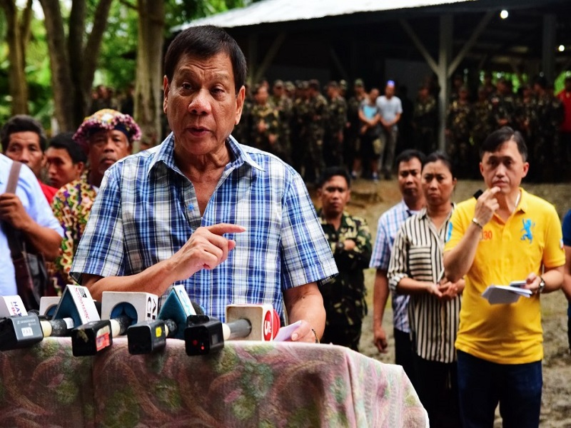 Image of President Rodrigo Duterte stressed he will only reject the Communist Party of the Philippines - New Peoples Army (CPP-NPA) request of pulling out or withdraw the police force and military assigned in the rebels mountainous stronghold. President Duterte, vague the request or demand of the CPP-NPA for the islands and mountains covered by the countrys territory is owned by the Republic. According to Duterte, he has made numerous consideration in good faith for the peace process and which includes assigning some communist member in his cabinet. So he is waiting for the positive response from the CPP-NPA in relation to the ceasefire declaration but if the leftist group turn down his realistic offer, the government forces is ready to launch an all-out-war against the communist party.