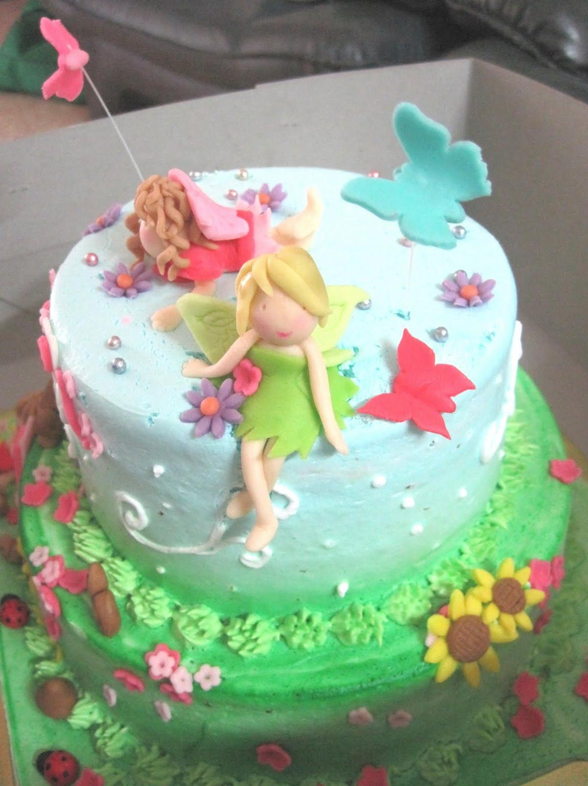 Fairy Themed 2-Tiered Cake For