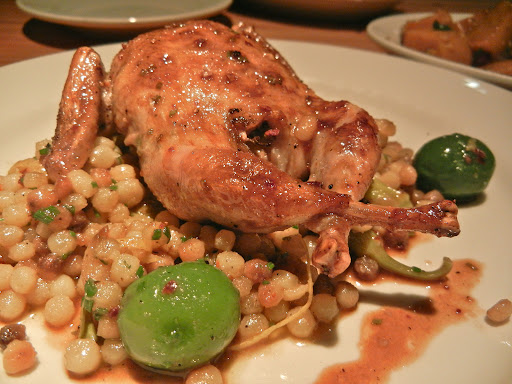 Quail with fregola at Madison Park Conservatory NL