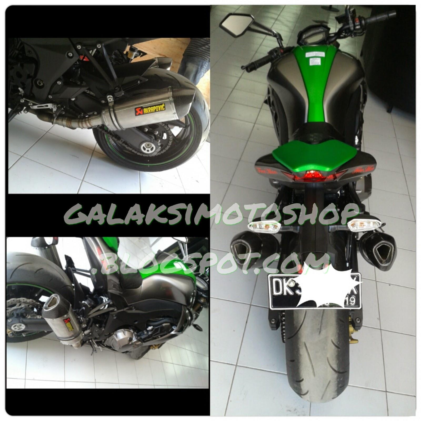 Knalpot Akrapovic Half Kevlar Ninja Z1000 Galaksi Motoshop R9 Assen Honda All New Cbr 250 Full System