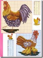 gallos y gallinas punto de cruz (1)